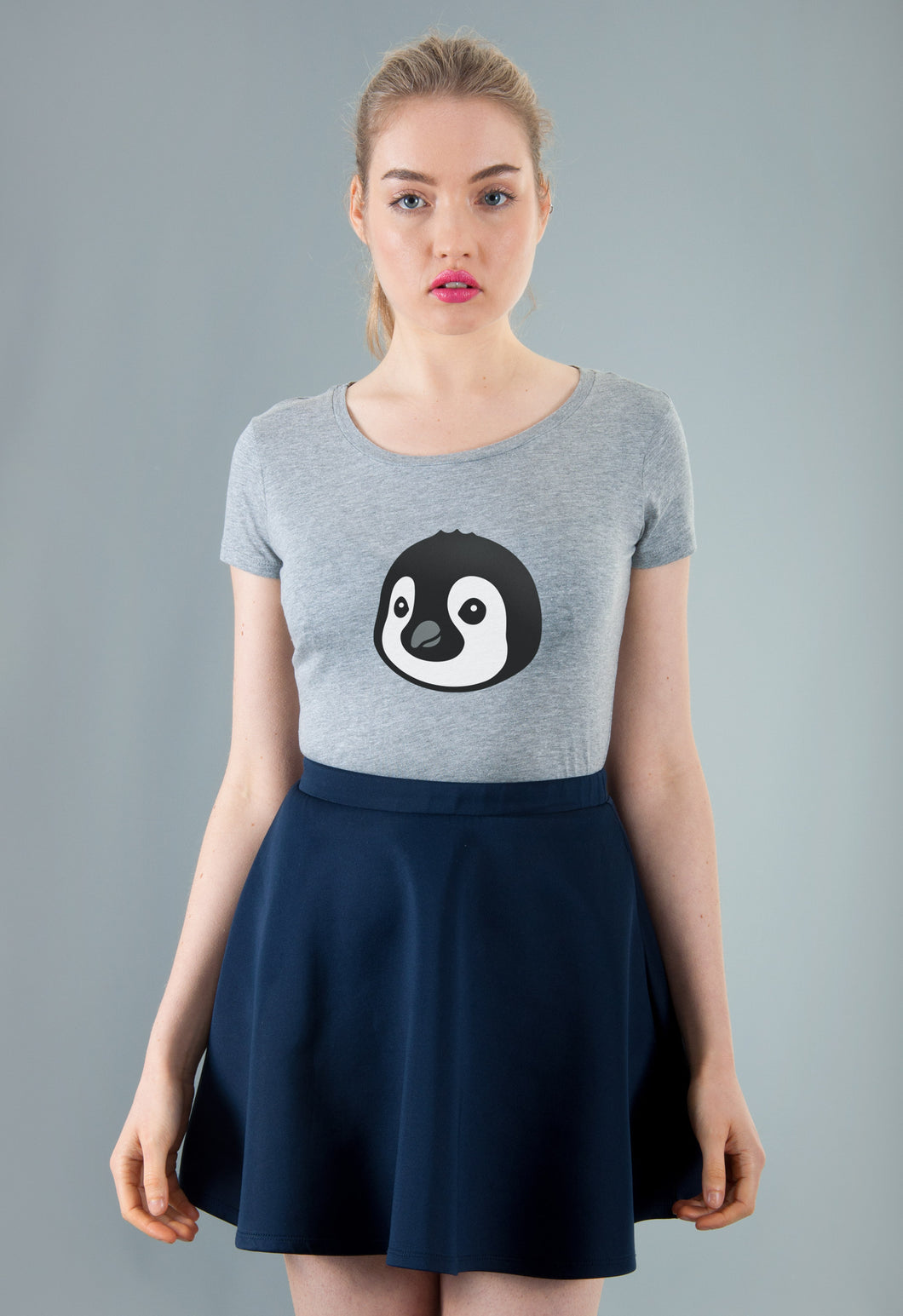 grey penguin T-shirt