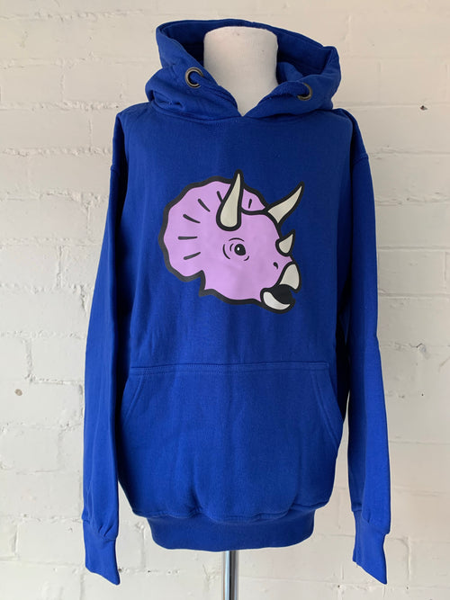 Small Unisex Triceratops Dinosaur Hoodie (clearance)