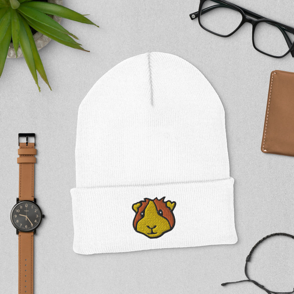 Embroidered Guinea Pig Beanie Hat
