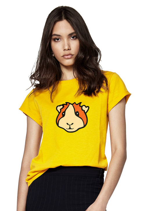 Guinea Pig Rolled Sleeve T-Shirt
