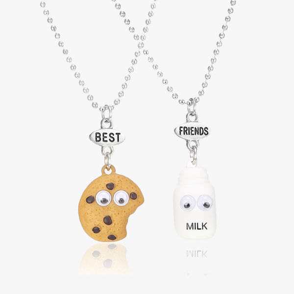 Milk and Cookie BFF Necklace (2pcs/set)