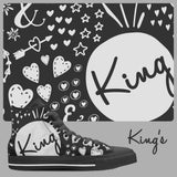 [Hot] King's High Top Canvas Shoes - Free Shipping