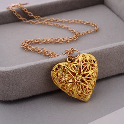 Hollow Heart Secret Message Necklace