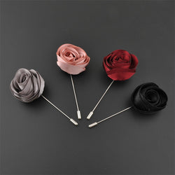Exquisite Satin Cloth Rose Brooch