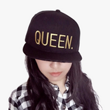 King Queen Gold Embroidery Snapback