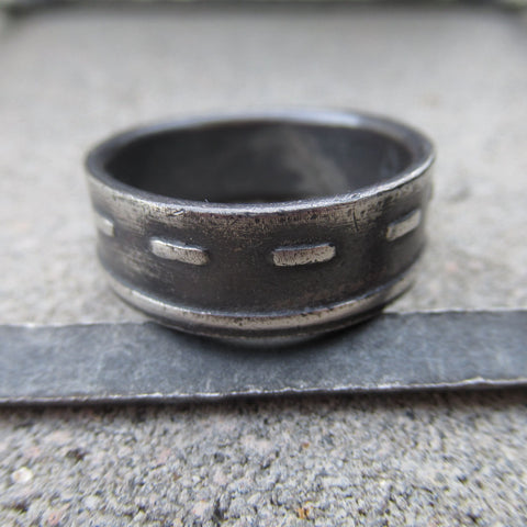 Road Ring in Sterling Silver - Own the Road - PartsbyNC Industrial Jewelry