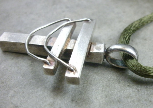 Powerline Pendant in Fine Silver - PartsbyNC Industrial Jewelry