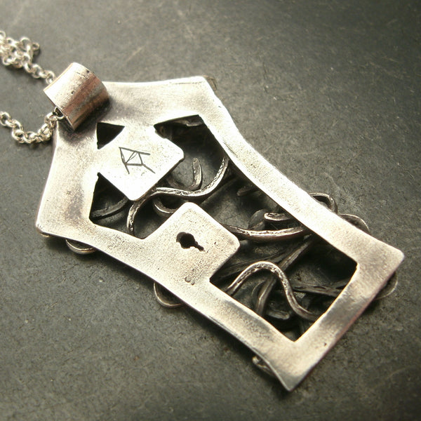 Fairy Garder Door Pendants in Fine Silver - PartsbyNC Industrial Jewelry