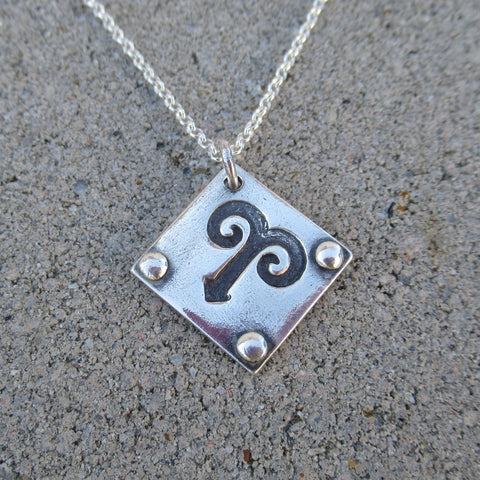 Zodiac Necklace in Fine Silver from PartsbyNC