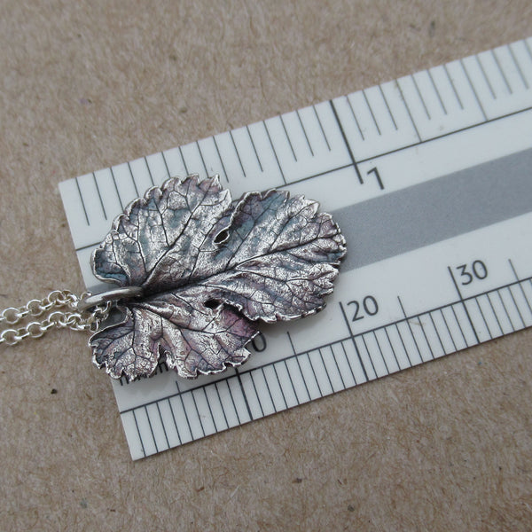 Fine Silver Mulberry Leaf Necklace from PartsbyNC
