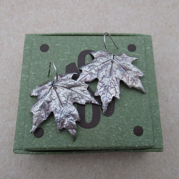 Real Leaf botanical Earrings from PartsbyNC