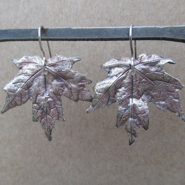 One of a Kind Maple Leaf Earrings from PartsbyNC