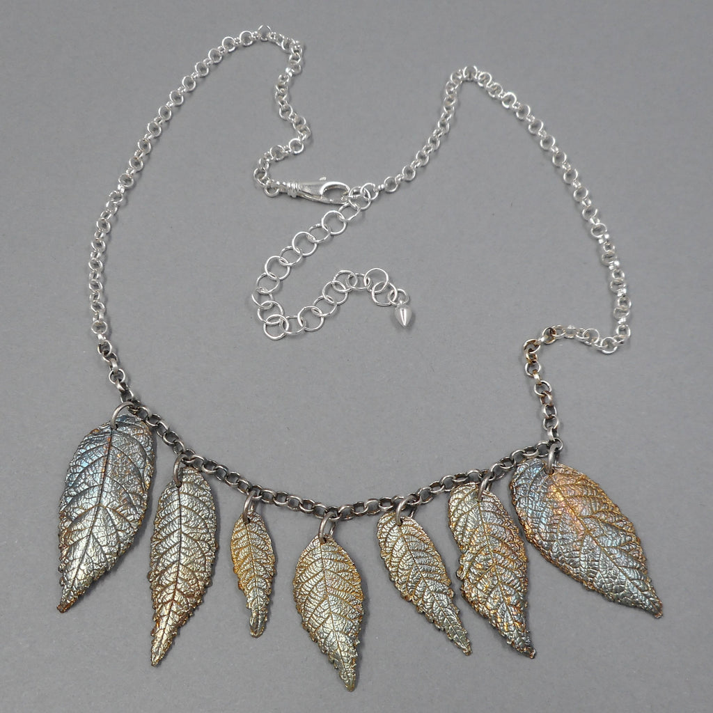 One of a Kind Walnut Leaf Necklace from PartsbyNC