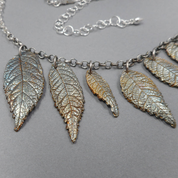 Fine Silver Necklace Made From Real Walnut Leaves from PartsbyNC