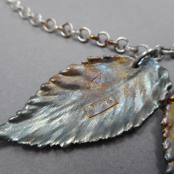Sterling & Fine Silver Botanical Necklace from PartsbyNC