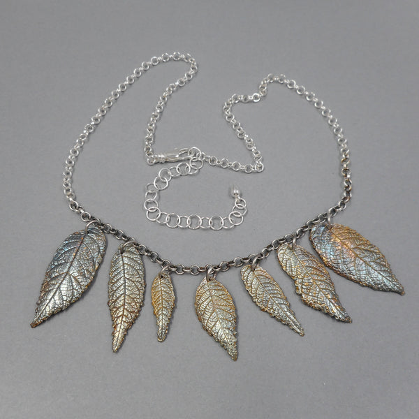 Large Bib Necklace in Sterling & Fine Silver from PartsbyNC