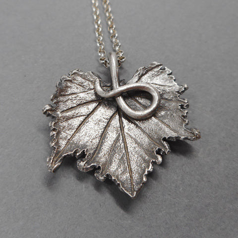 Handcrafted Grape Leaf Pendant from PartsbyNC