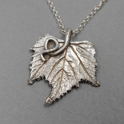 Botanical Grape Leaf Pendant from PartsbyNC