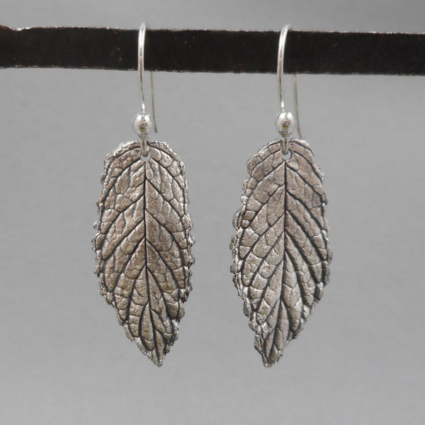 One of a Kind Mint Leaf Earrings from PartsbyNC