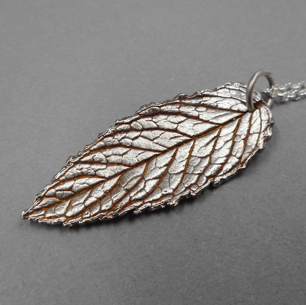 Botanical Mint Leaf Pendant from PartsbyNC
