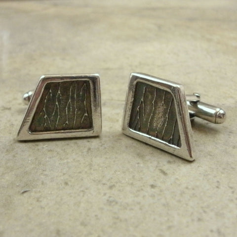 Lightning Texture Cufflinks from PartsbyNC