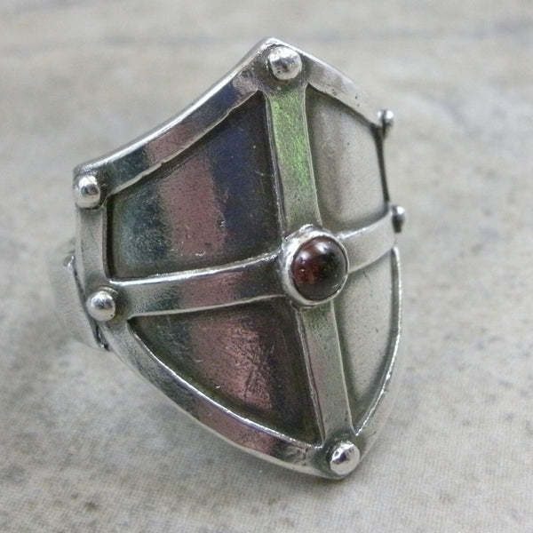 Shield Ring with Stone Cabochon from PartsbyNC