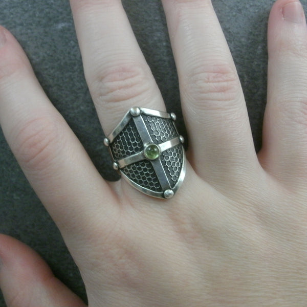Texture inlay Shield Ring from PartsbyNC
