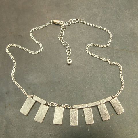 Stonehenge Necklace in Sterling & Fine Silver - PartsbyNC Industrial Jewelry