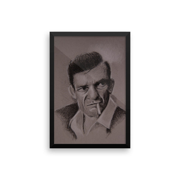 Framed Photo Paper Poster - Johnny