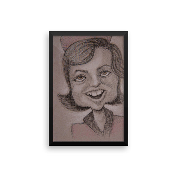 Framed Photo Paper Poster - Jackie