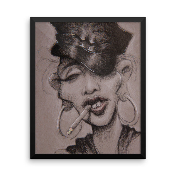 Framed Photo Paper Poster - Madge