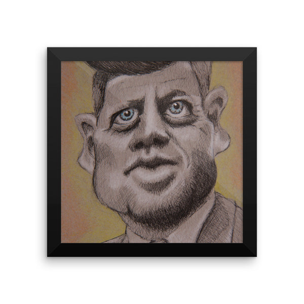 Framed Photo Paper Poster - JFK