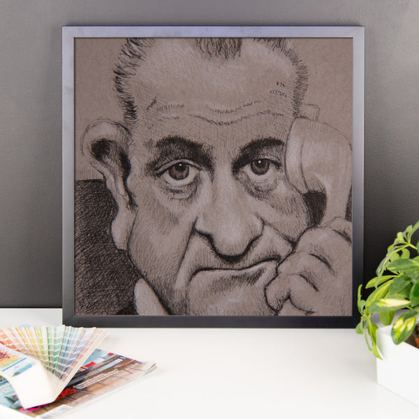 Framed Photo Paper Poster - LBJ