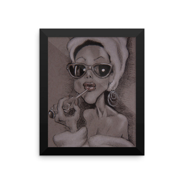 Framed Photo Paper Poster - Audrey
