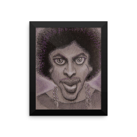 Framed Photo Paper Poster - Purple