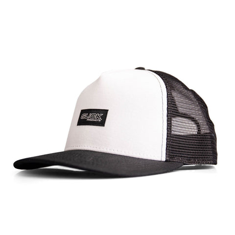 Micro Snapback Hat - Black/White