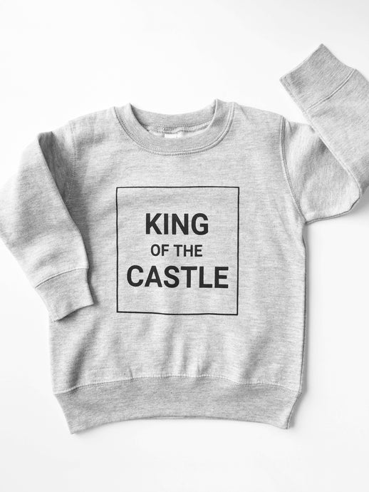 King of the Castle Grey Fleece Pullover