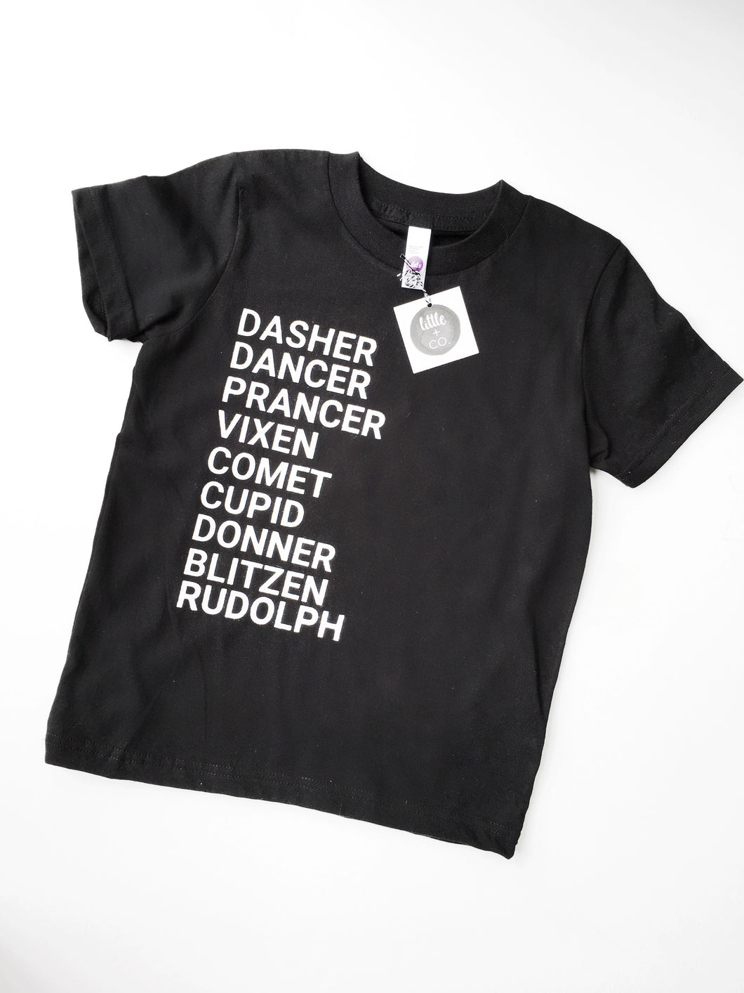 Reindeer Names Tee - Black