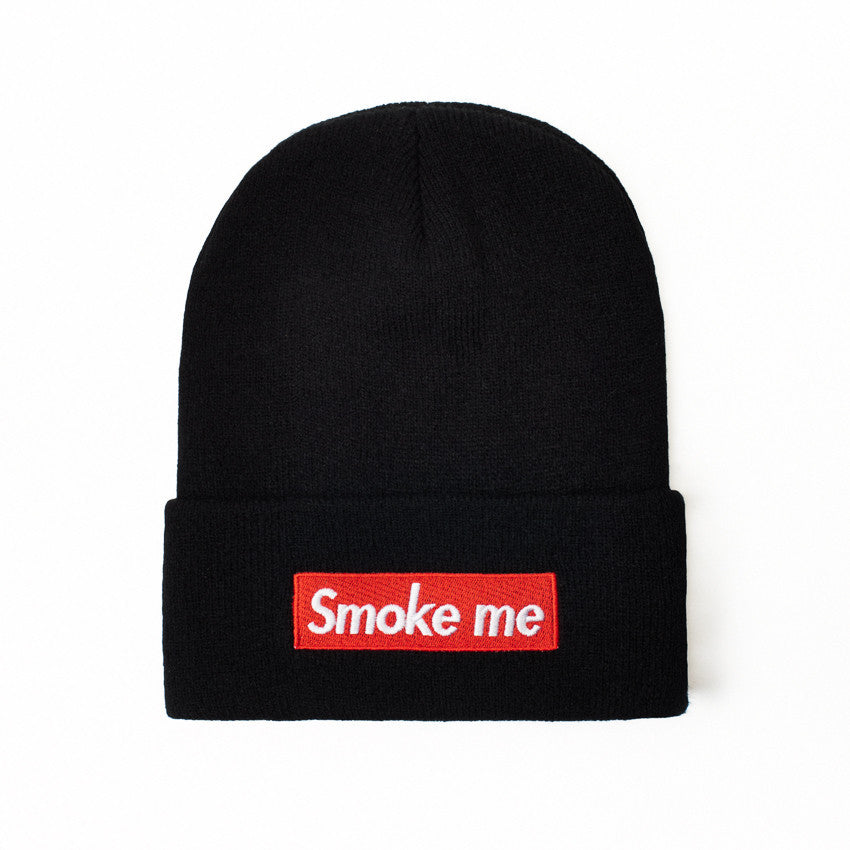 SMOKE ME - BEANIE - Growing Gardens Clothing