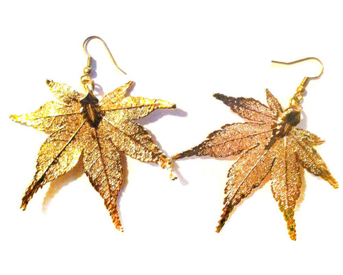 LEAF EARRINGS - Growing Gardens Clothing