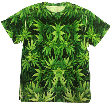 WEED ALL OVER PRINT -T- SHIRT - Growing Gardens Clothing