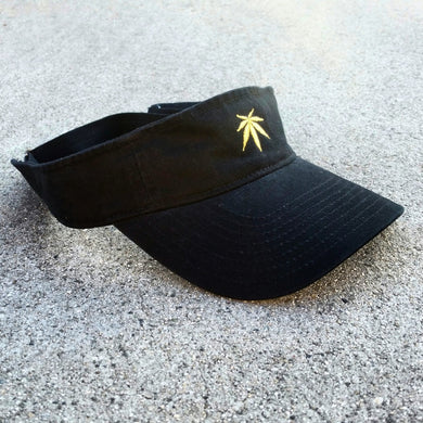 LEAF CLASSIC - VISOR - BLACK - Growing Gardens Clothing - 1