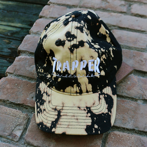 Trapper - Dad Cap (Black)(Bleach)