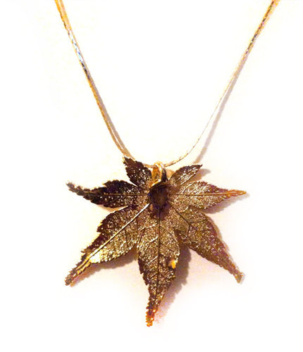 GOLD LEAF NECKLACE - Growing Gardens Clothing - 1