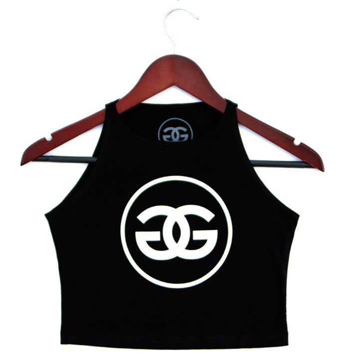 GG LOGO - BLACK - CROPTOP - Growing Gardens Clothing