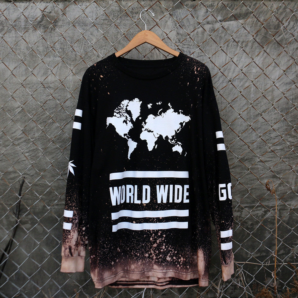 World Wide OG Smokers - Long Sleeve - (Bleach)