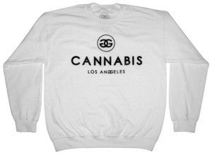 CANNABIS LA - WHITE - SWEATER - Growing Gardens Clothing