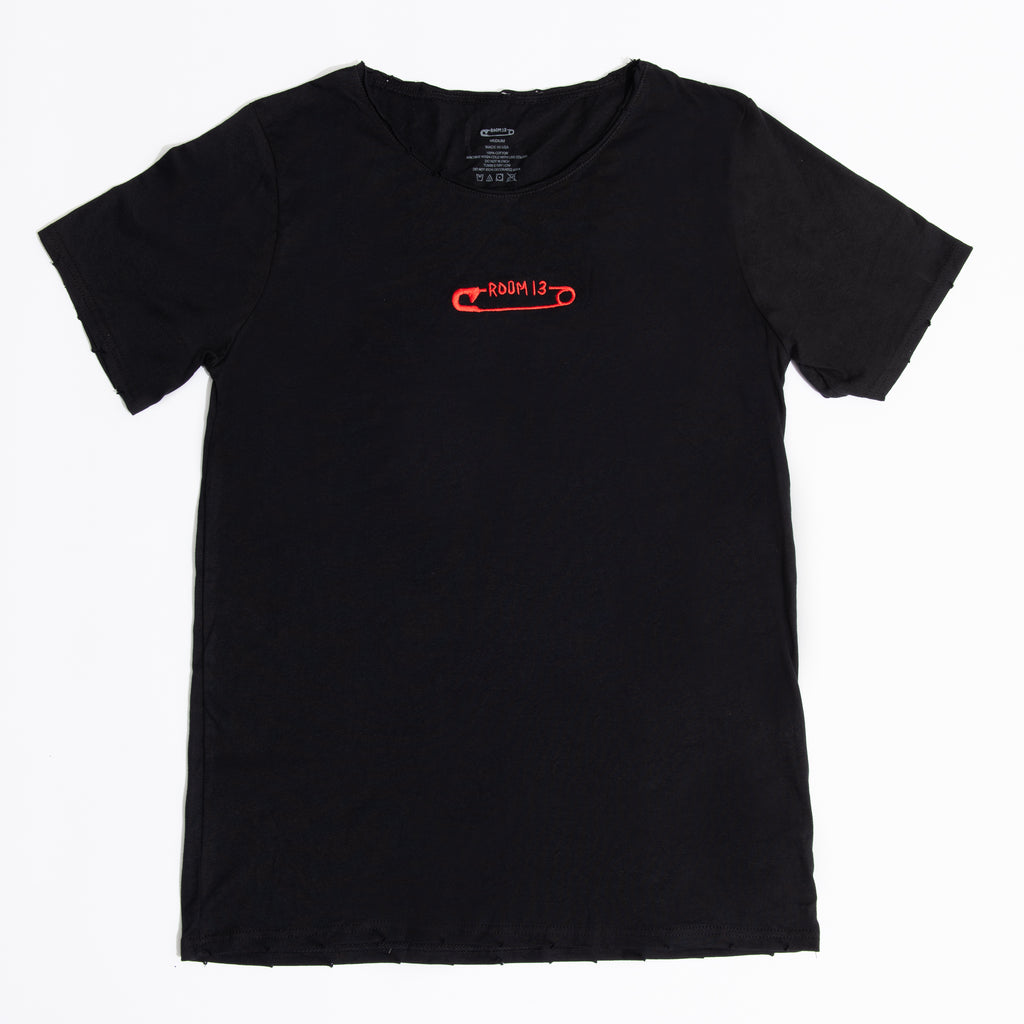 ROOM 13 EMBROIDERED LOGO TEE