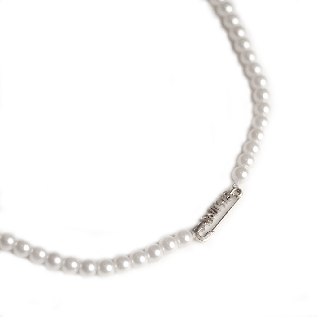 Safety Pin Pearl Choker - ROOM 13 LOS ANGELES
