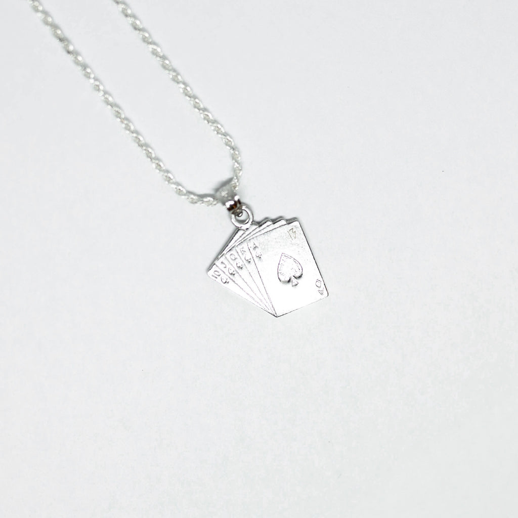 Hand of Cards Necklace - streetwear jewelry